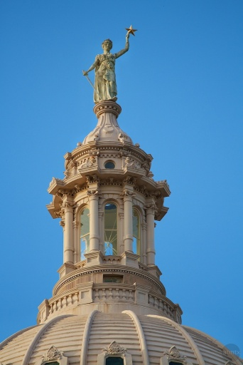 Austin Texas State Capitol Building Dome Top Statue