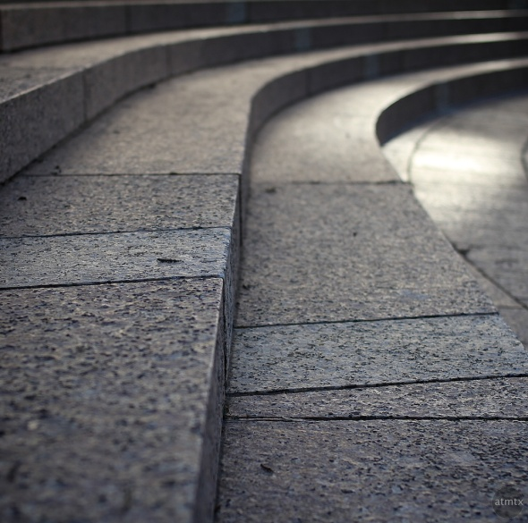Curved Granite Steps Abstract