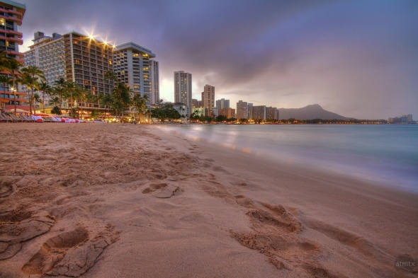 Waikiki Hotels Early in the Morning