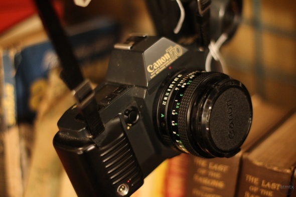 Canon T70 at Flea Market with 7D