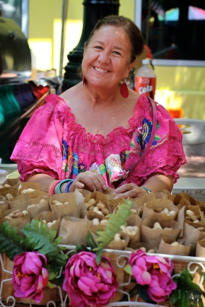 Vendor at El Mercado