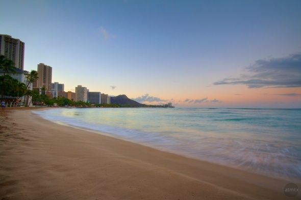 Waikiki Beach Morning with Diamond Head